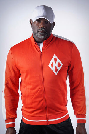 Run The Yard - NUPES! track jacket, red/white