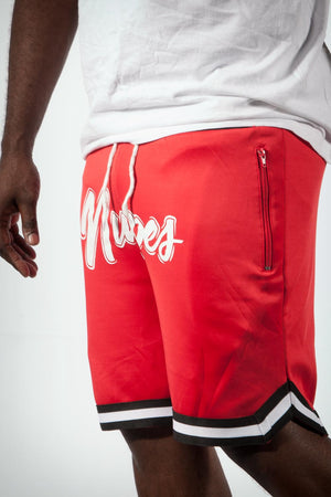 It's The Nupes track shorts, red