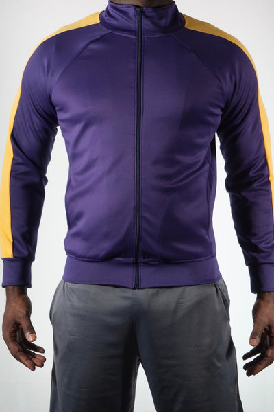 Big Brother track jacket, purple/gold