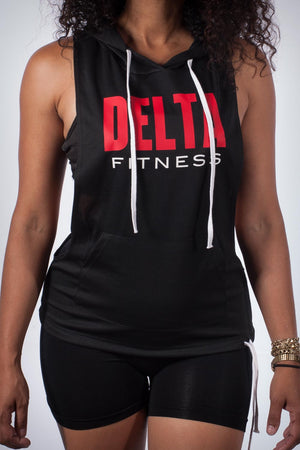 Excuse My Back Delta stringer tank hoodie, black
