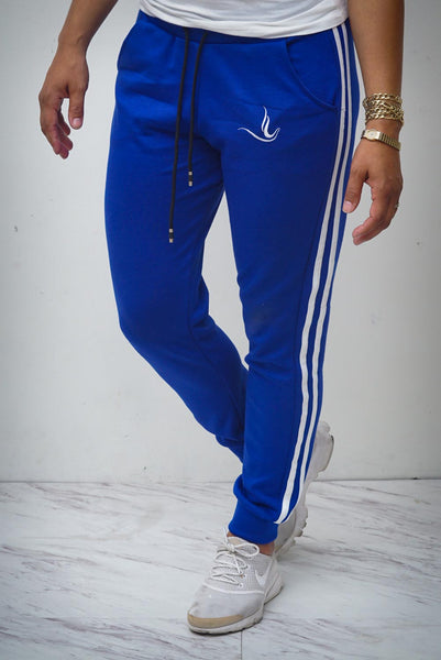 Bold & Beautiful Peace Dove joggers, blue