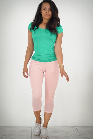So Serious premium capris, salmon pink