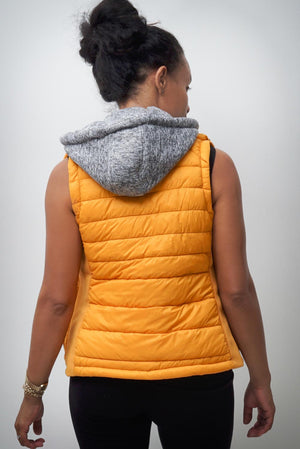 Free & Clear bomber vest, gold