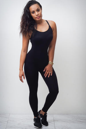 Work It Girl unitard, black