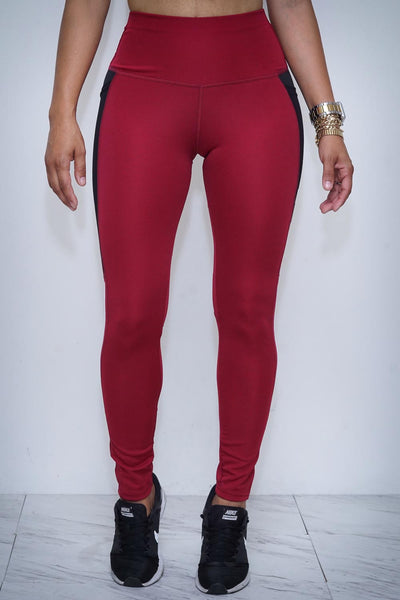 Speed Racer premium leggings, crimson