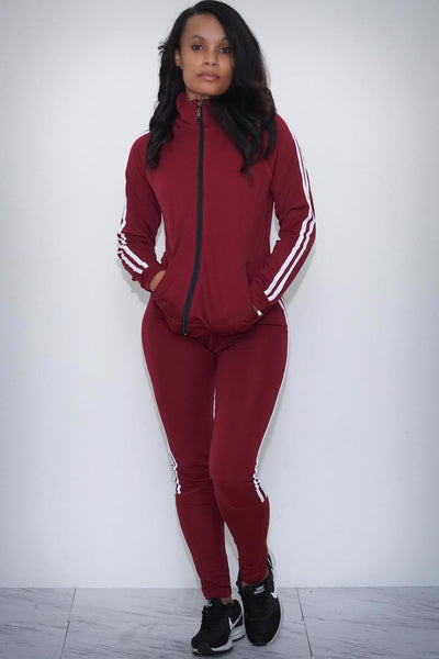 Red Violet leggings/track jacket set