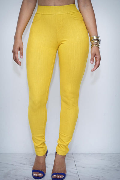 Goddess skinnies, gold