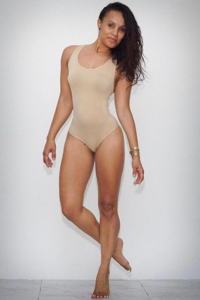 Fresh Out bodysuit, nude