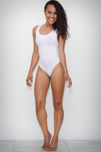 Fresh Out bodysuit, white