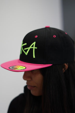 Whip It! AKA snapback, black/pink/green