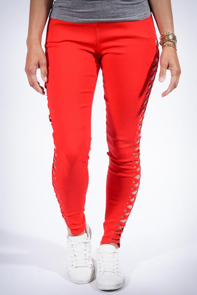 For My eX pants, red