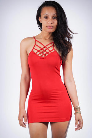 Show It Off dress, red