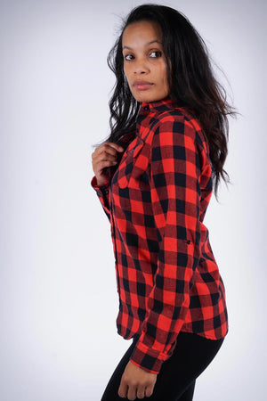 Down South flannel shirt, red/black