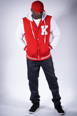 Kapital Achievement varsity letterman jacket, red
