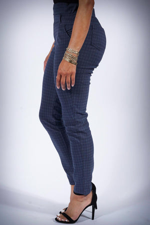 CEO Soror plaid pants, blue