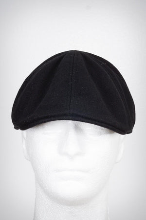 Smooth Operator Diamond-K melton-ivy newsboy cap, black