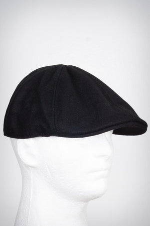 Smooth Operator Ω melton-ivy newsboy cap, black