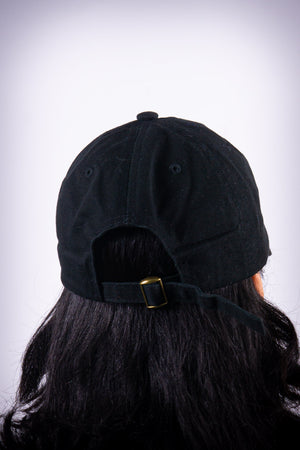 Finer polo dad hat, black