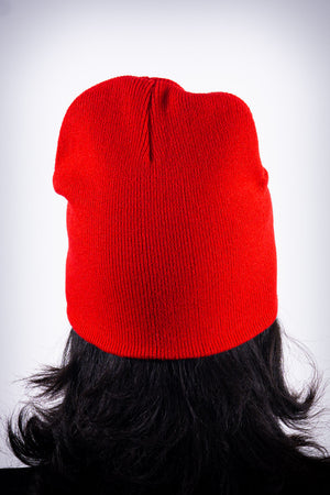 High Goals skullie beanie, red