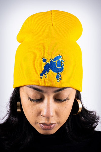 Frenchie Poodle skullie, gold