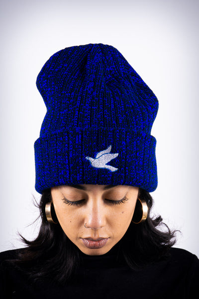 Forever Finer beanie, blue rock