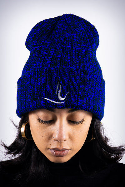 Peace Dove beanie, blue rock