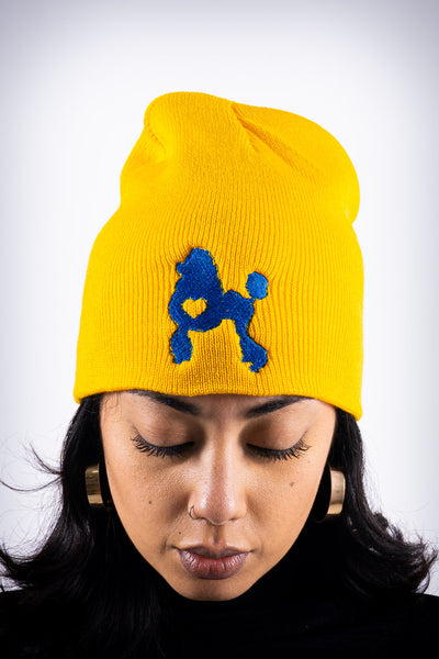 Poodles got Heart skullie beanie, gold