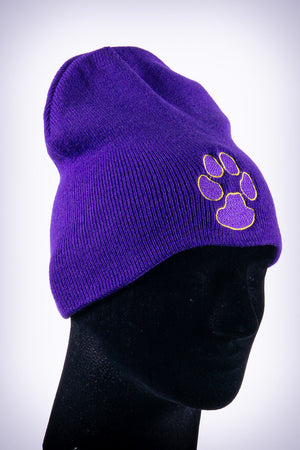 Dawg Pound skullie beanie, purple