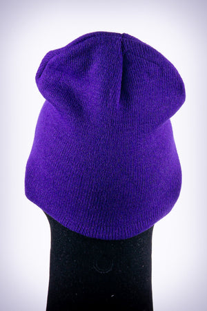 Star Dawg skullie beanie, purple
