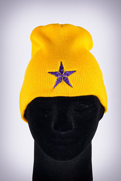 Star Dawg skullie beanie, gold