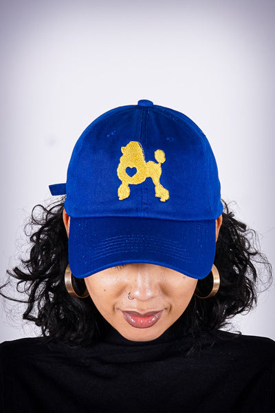 Poodles got Heart polo dad hat, blue