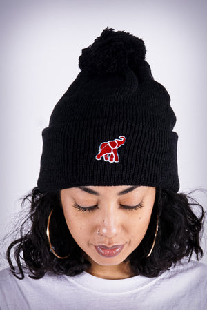 High Goals pom-pom beanie, black