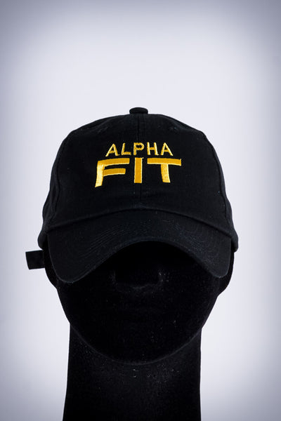 Alpha FIT polo dad hat, black