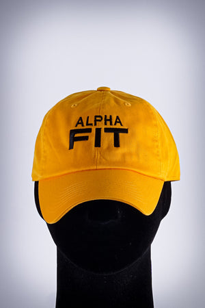 Alpha FIT polo dad hat, gold
