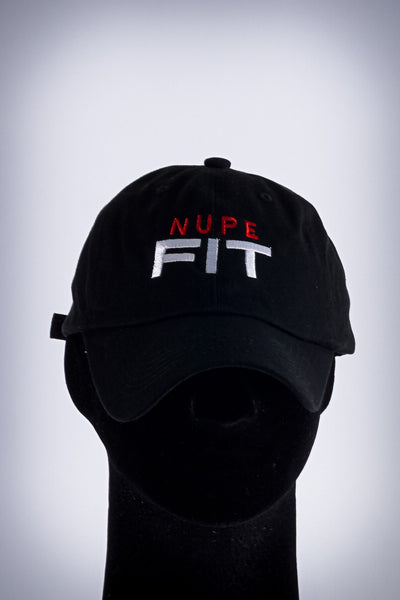 Nupe FIT polo dad hat, black