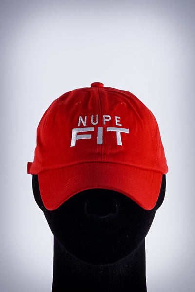 Nupe FIT polo dad hat, red