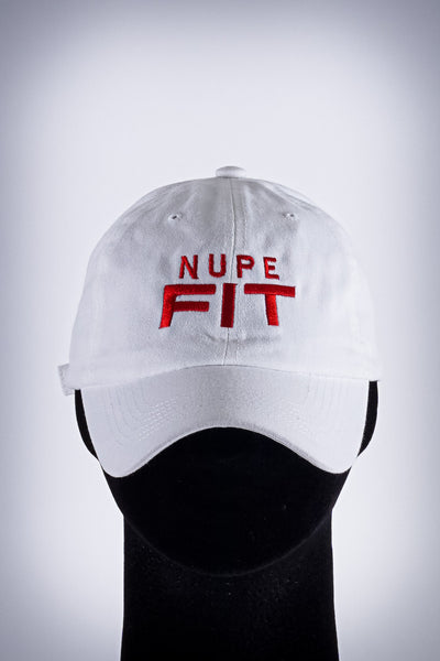 Nupe FIT polo dad hat, white