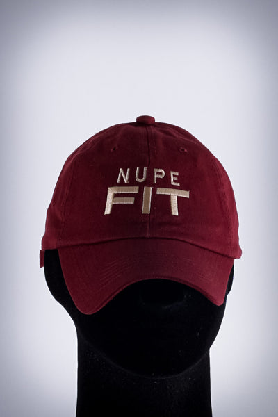 Nupe FIT polo dad hat, krimson