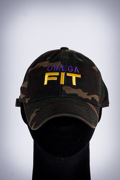 Omega FIT polo dad hat, camouflage