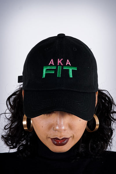 AKA FIT polo dad hat, black