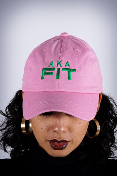 AKA FIT polo dad hat, pink