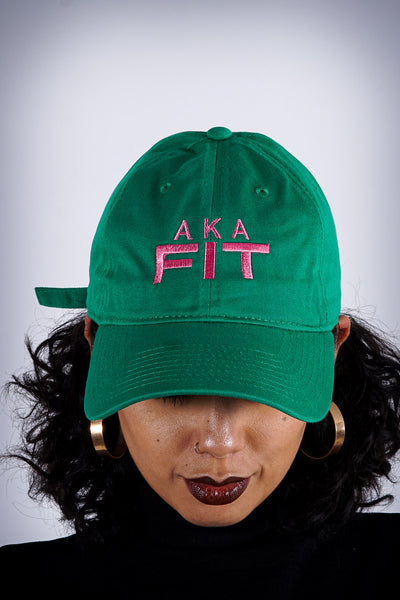 AKA FIT polo dad hat, green