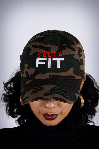 Delta FIT polo dad hat, camouflage