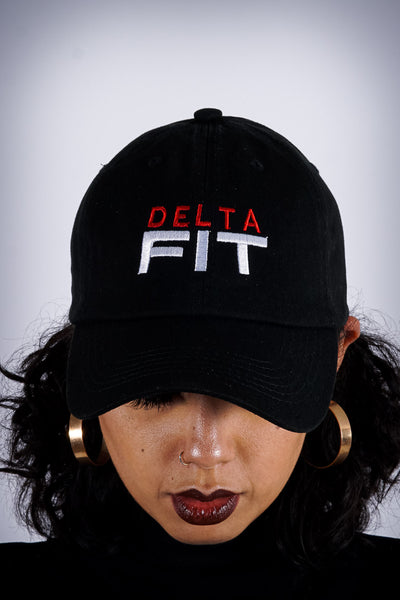 Delta FIT polo dad hat, black