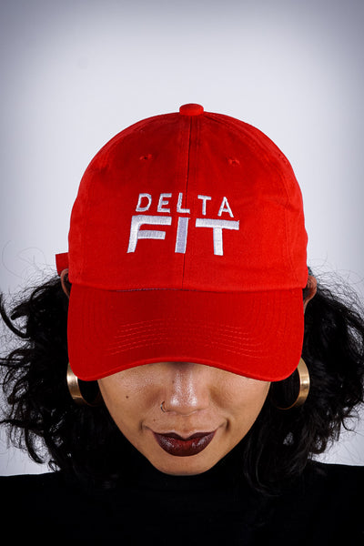 Delta FIT polo dad hat, red