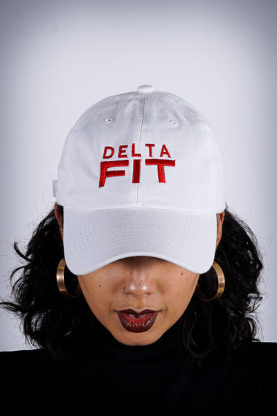Delta FIT polo dad hat, white