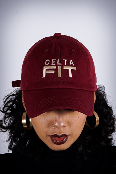 Delta FIT polo dad hat, crimson