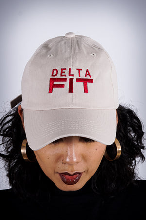 Delta FIT polo dad hat, cream