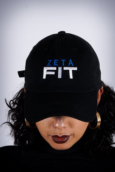 Zeta FIT polo dad hat, black