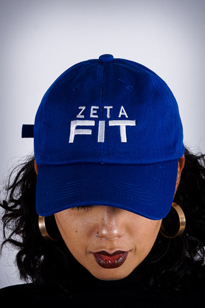 Zeta FIT polo dad hat, blue